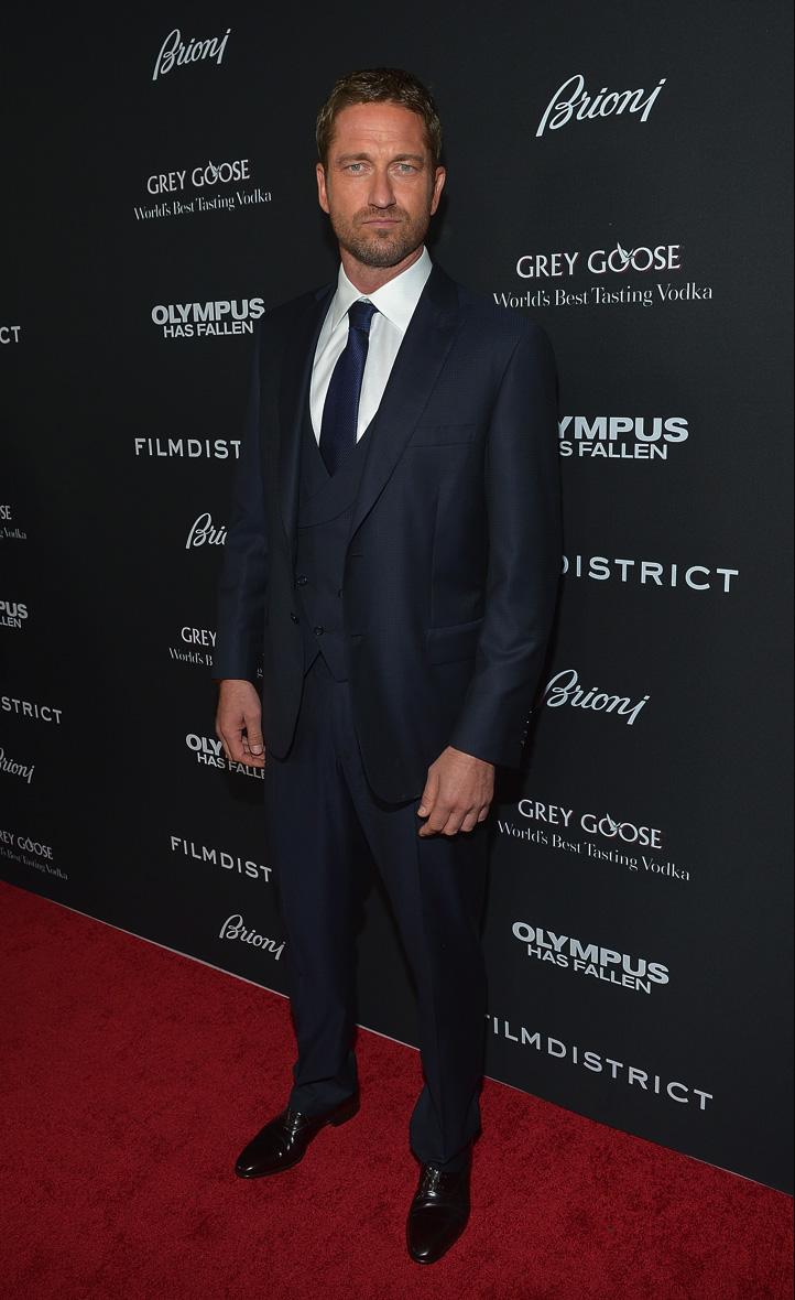 Gerard Butler Amp Morgan Freeman Don Brioni For Olympus Has