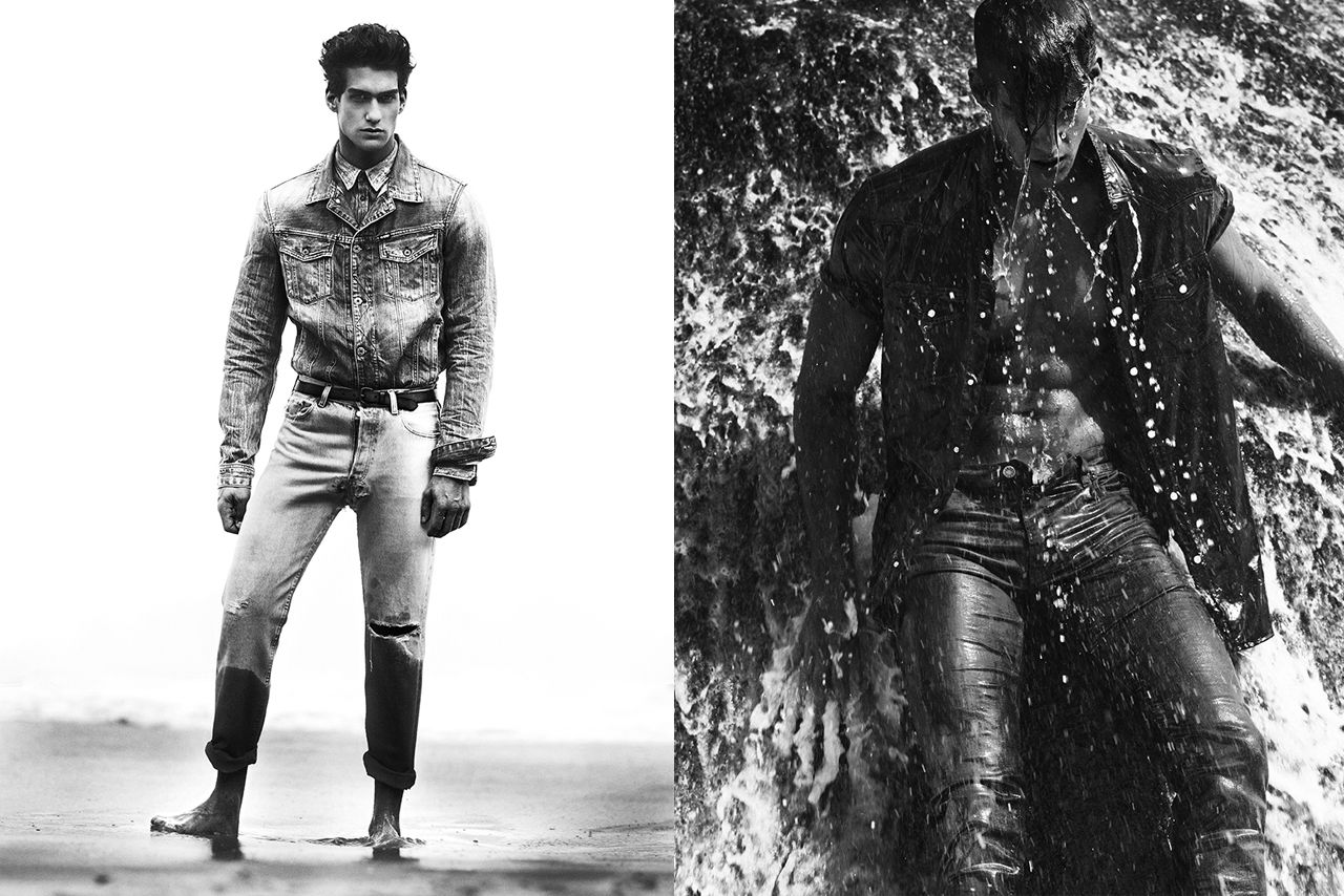 Kaylan Morgan Sports Denim Looks for Hercules