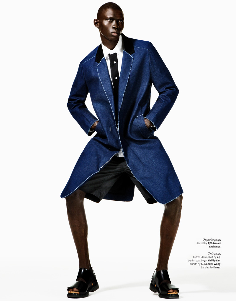 Fernando Cabral is Feeling Blue for Out Magazine