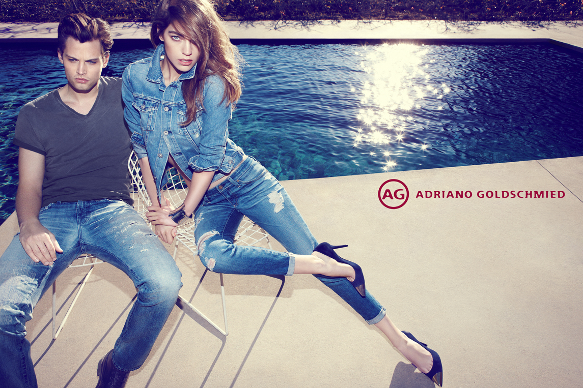 Taylor Fuchs Poolside for Adriano Goldschmied Jeans' Spring/Summer 2013 Campaign
