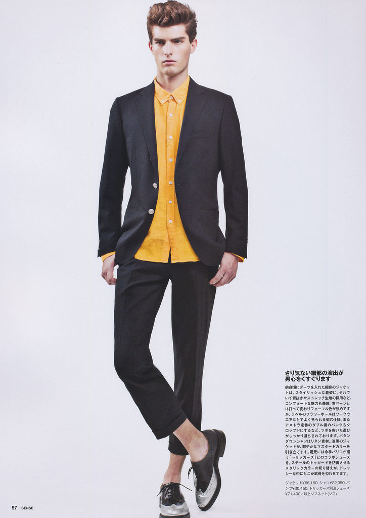 Junji Hata Captures Paolo Anchisi for Sense's February 2013 Issue