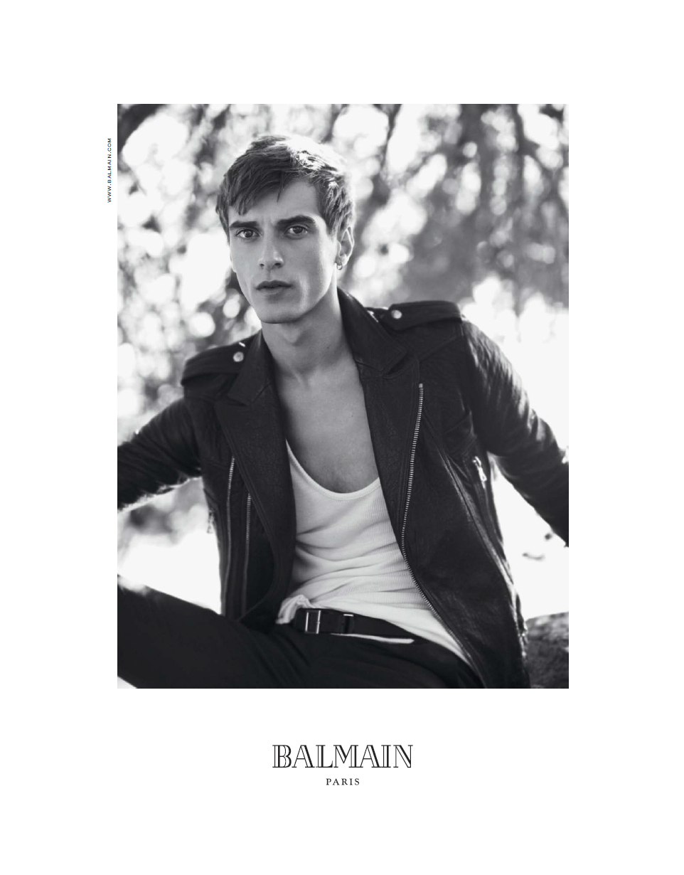 David Sims Captures Clément Chabernaud for Balmain's Spring/Summer 2013 Campaign