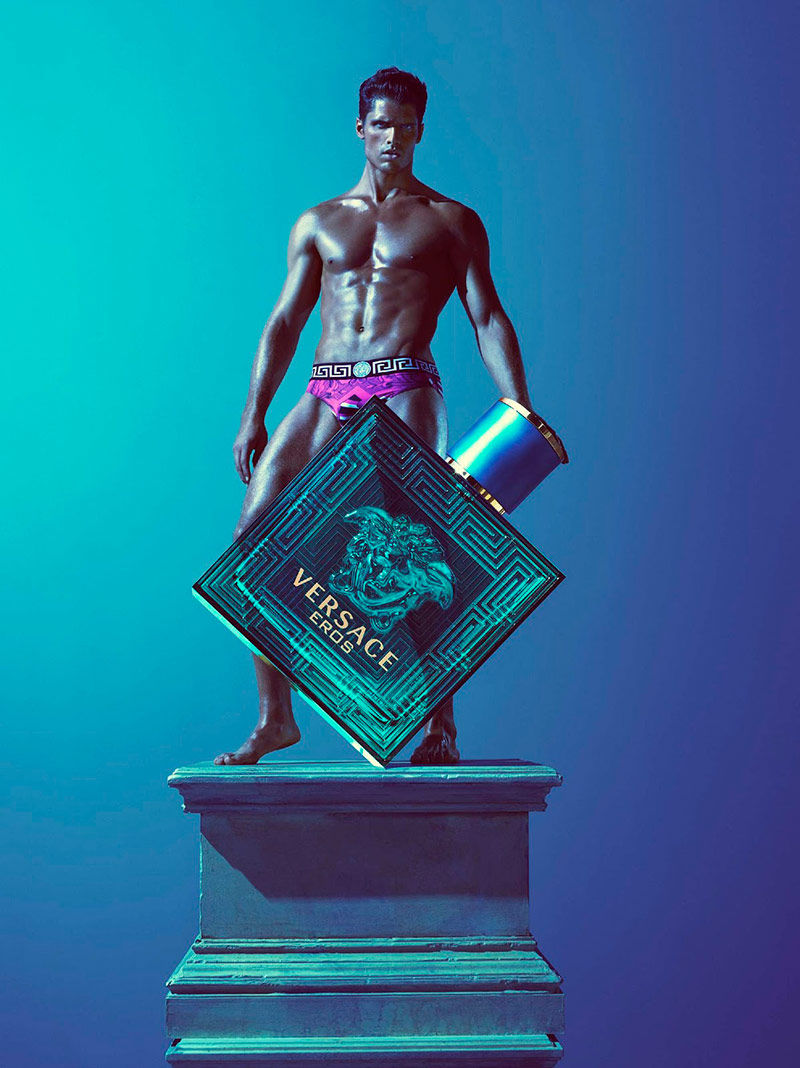 Brian Shimansky is a Living Divinity for Versace's Eros 2013 Campaign