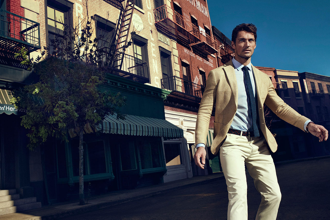0d76874829 David Gandy Hits the Streets of New York for Massimo Dutti s NYC Collection
