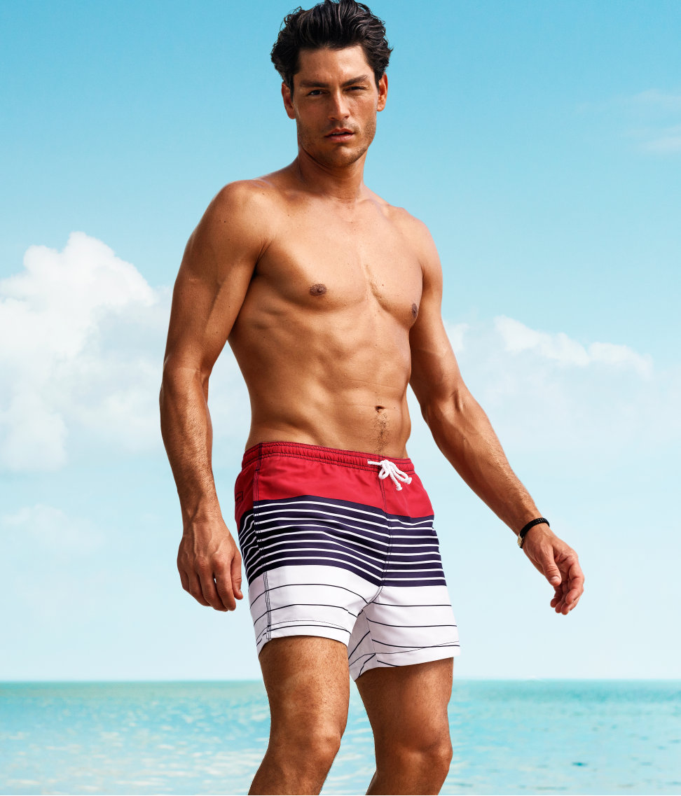 Tyson Ballou is Ready for Summer with H&M's Beachwear Collection
