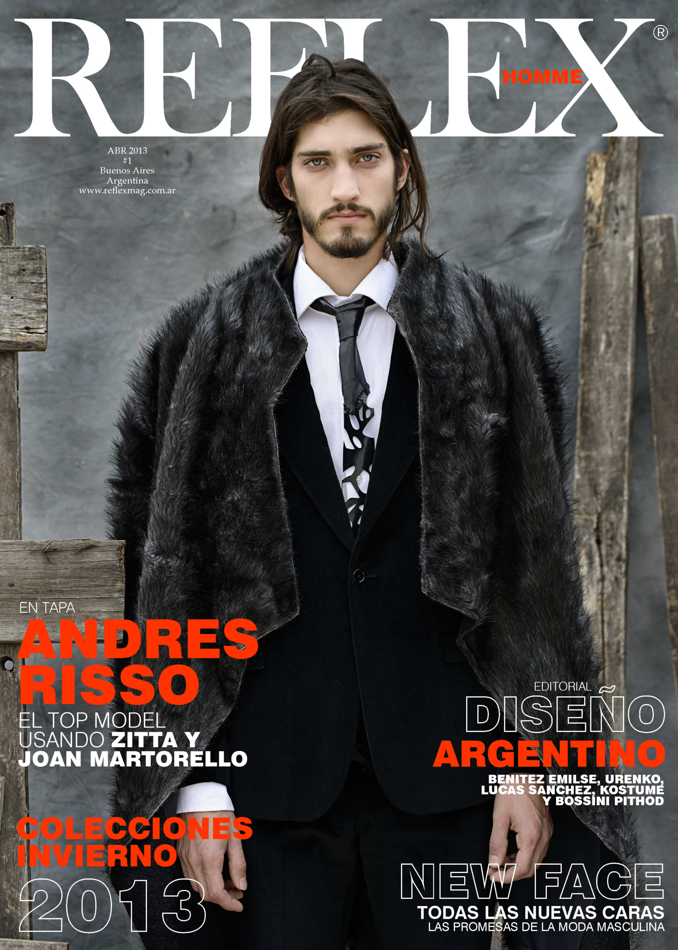 Andres Risso Covers Reflex Homme's Debut Issue