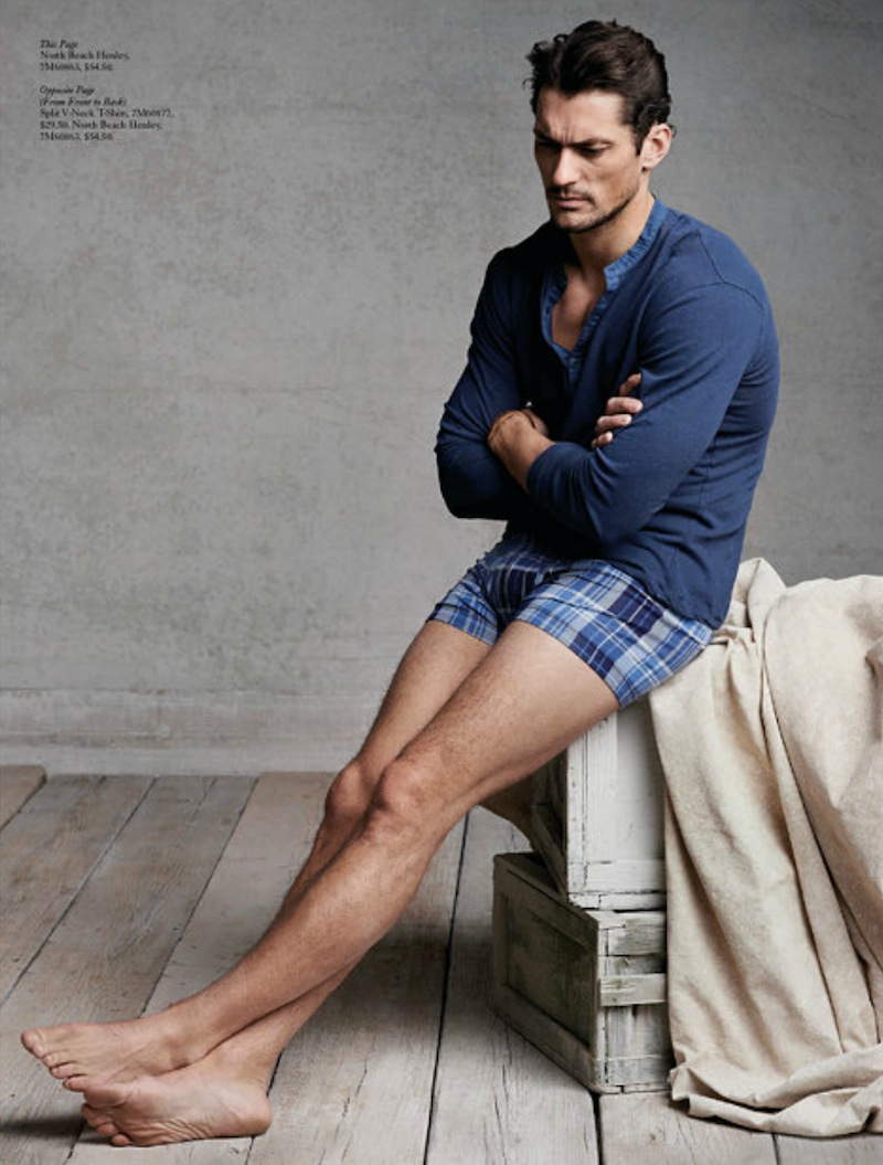 David Gandy Embraces Casual Styles For Lucky Brand S April