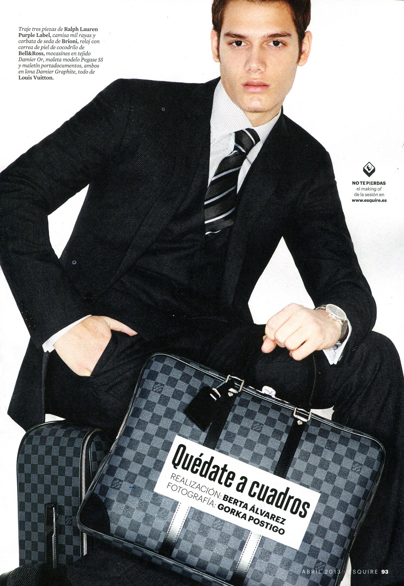 Haydem Guerra Sports Louis Vuitton's Accessories for Spanish Esquire
