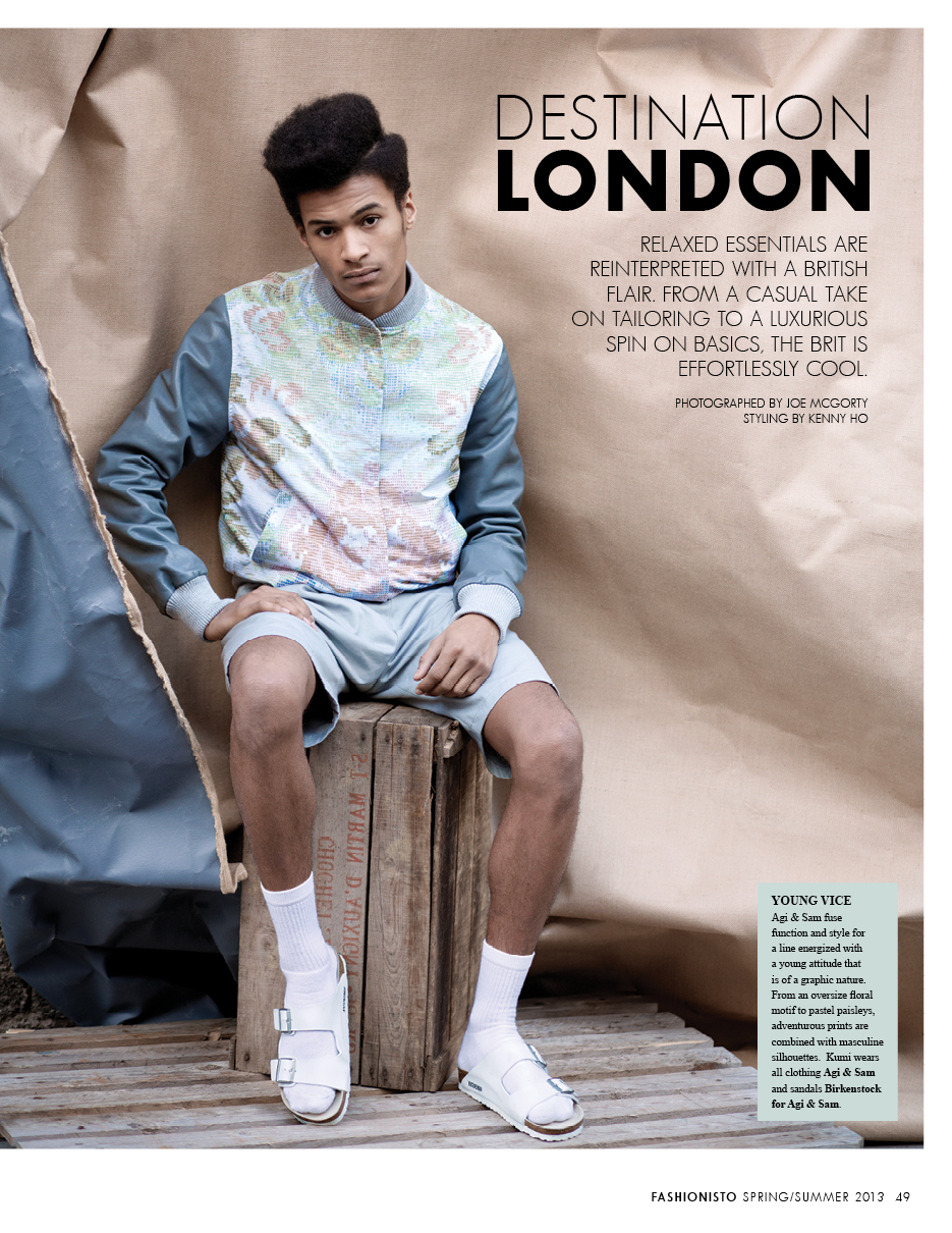 Destination London | Kumi Keazor, Brandon Hill & Michael Roberts by Joe McGorty for Fashionisto #7
