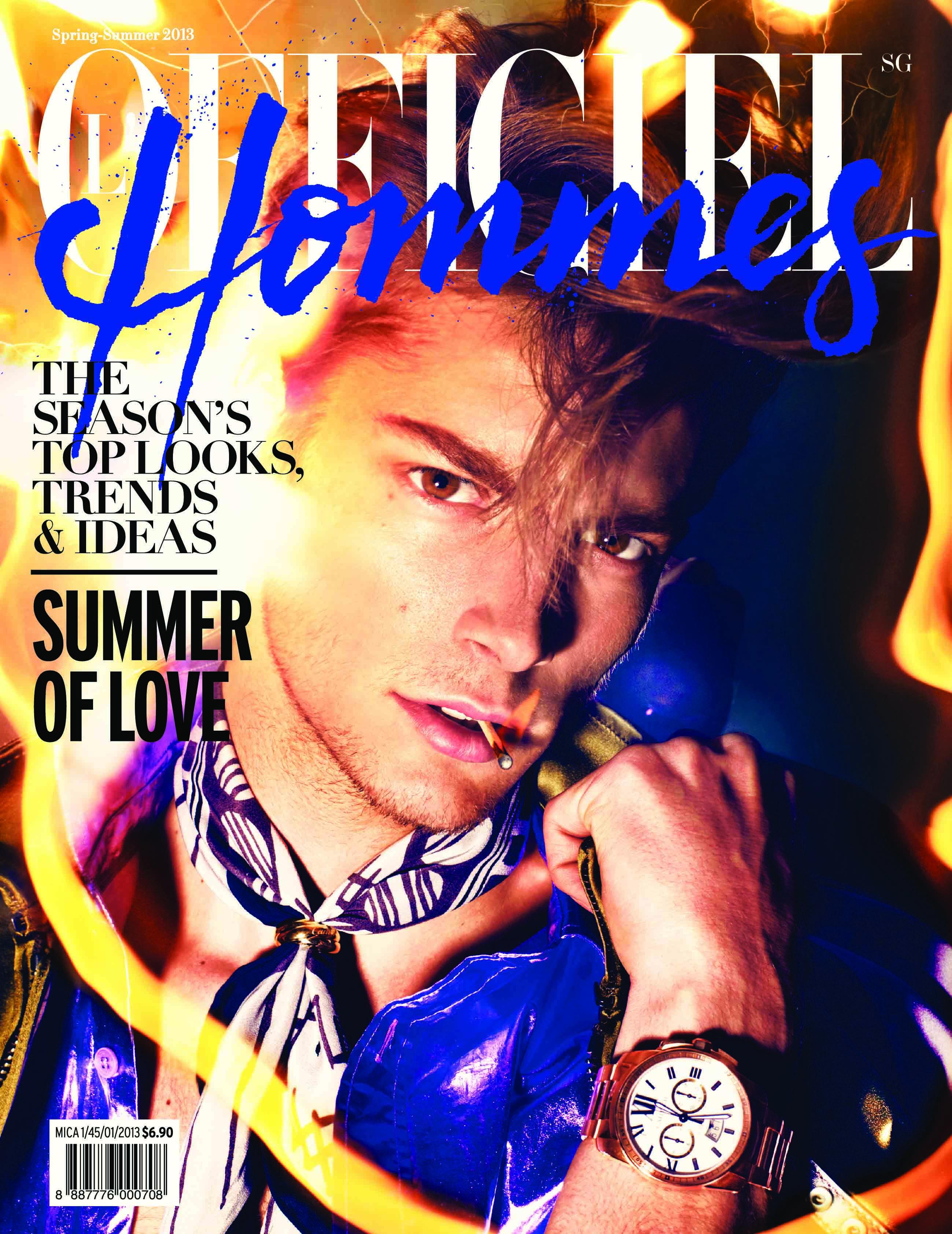 Timothée Bertoni Covers L'Officiel Hommes Singapore's Spring/Summer 2013 Issue