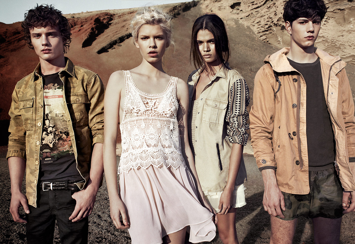 Simone Nobili & Justin Barnhill Front Pull & Bear's Spring/Summer 2013 Campaign