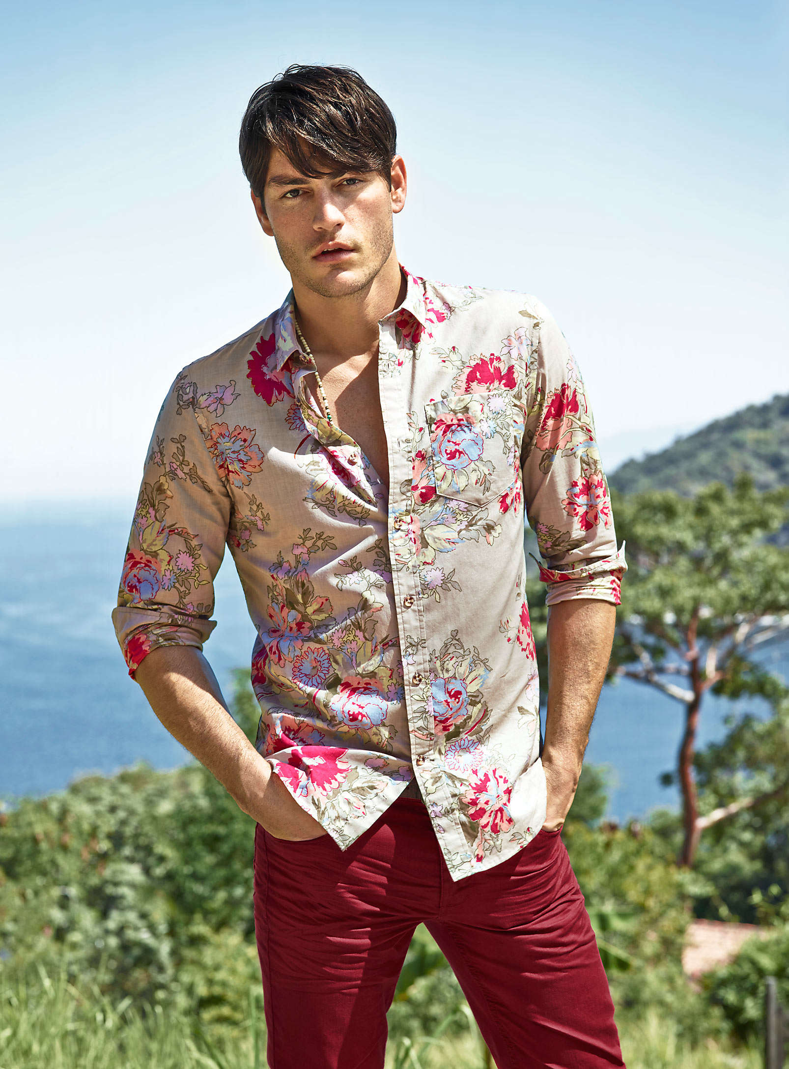 Tyson Ballou Models Simons' Summer 2013 Collection