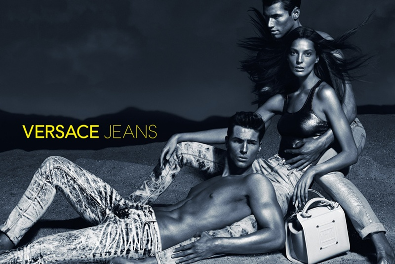 Edward Wilding & Kacey Carrig Pose for Versace Jeans' Spring/Summer 2013 Campaign