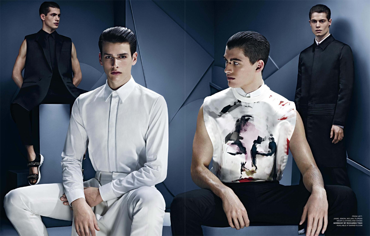 Simon Van Meervenne, Jamie Wise, Bastian Thiery & Others Model the Spring Collections for VMAN