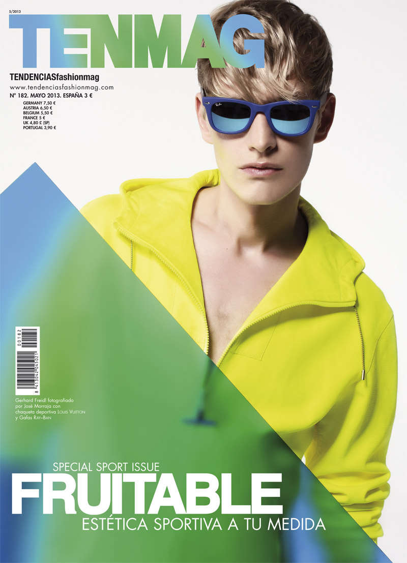 Gerhard Freidl Studies the Color Wheel on the Cover of TenMag