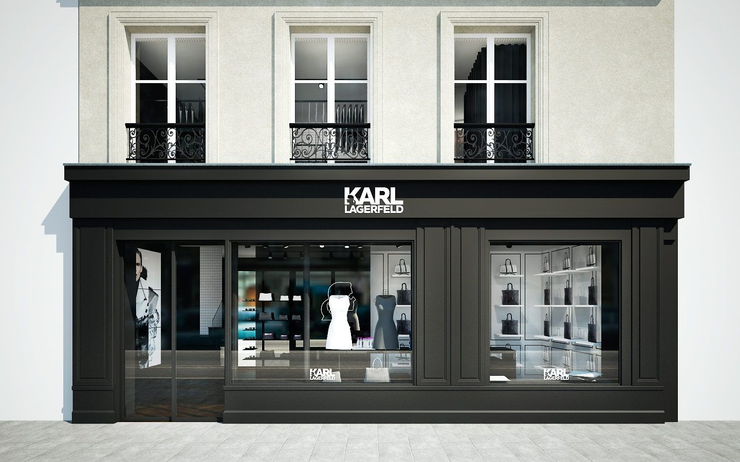 karl lagerfeld launches a second store in le marais paris. Black Bedroom Furniture Sets. Home Design Ideas