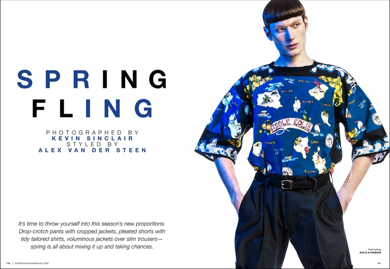 Aiden Andrews Has a Spring Fling for Essential Homme