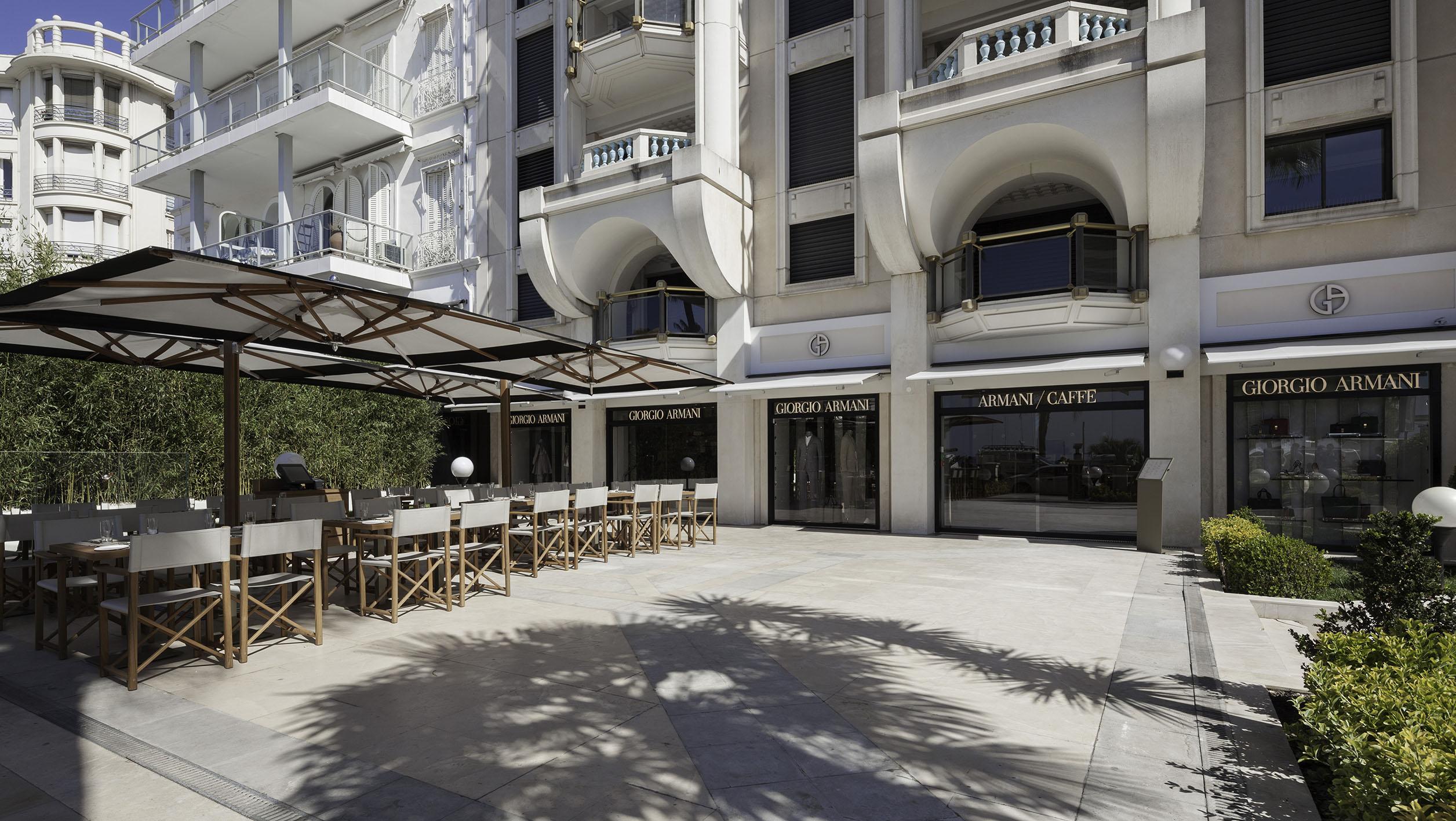 Giorgio Armani Opens a New Boutique & Armani Café in Cannes