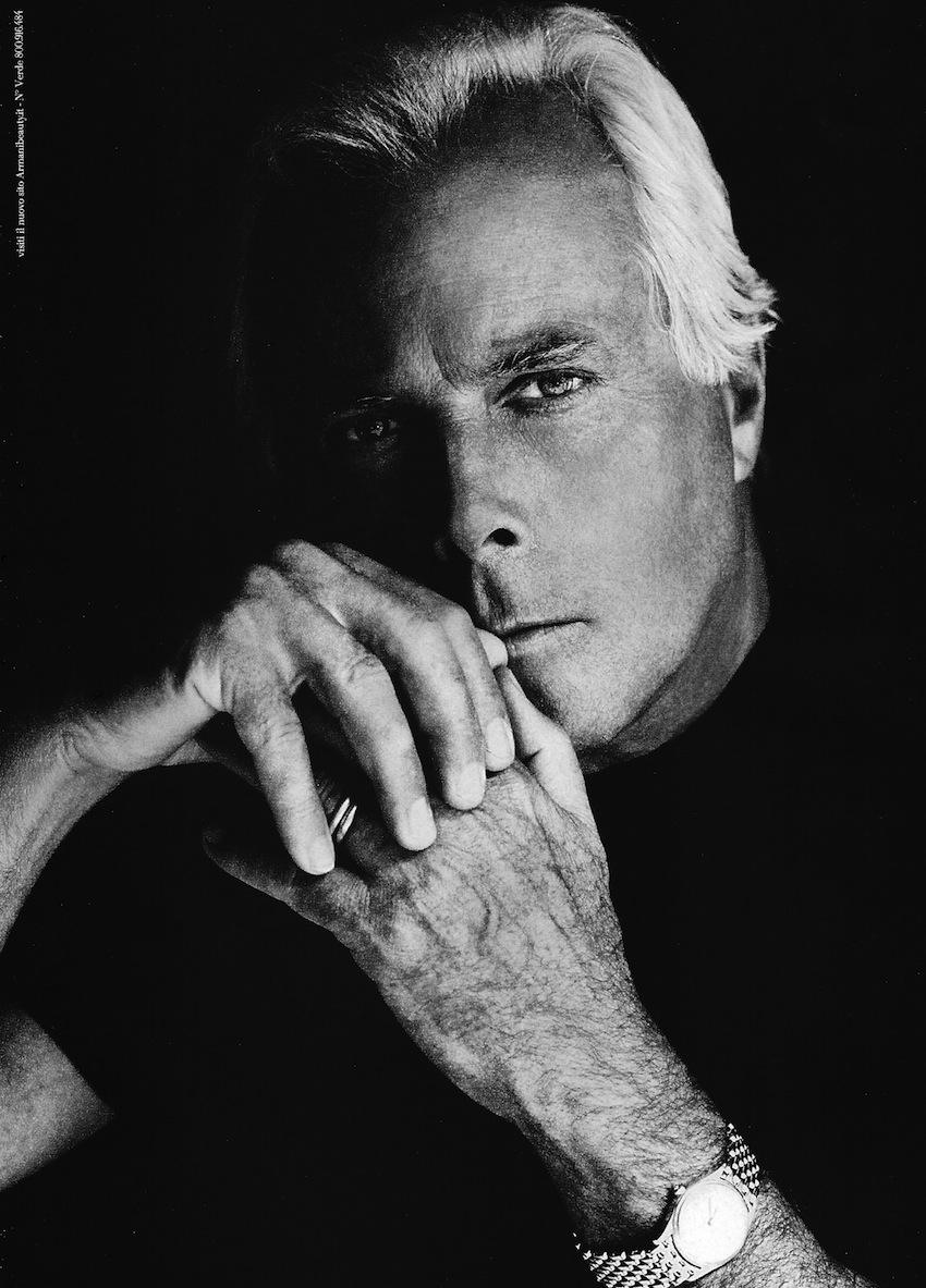 Giorgio Armani Fronts Armani's Eau pour Homme Fragrance Campaign