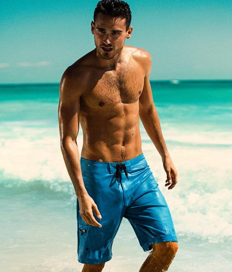 Arthur Kulkov Gets Soaked For H Amp M S Beachwear Collection