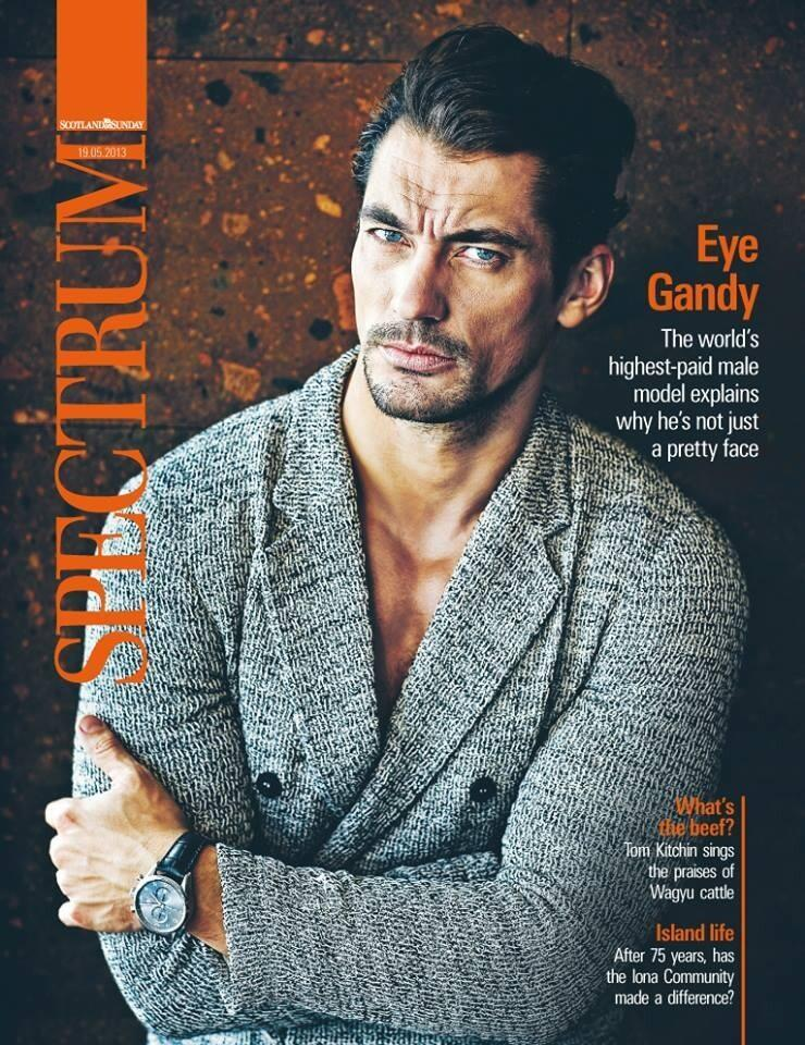 An Emporio Armani Clad David Gandy Covers Spectrum's Latest Issue
