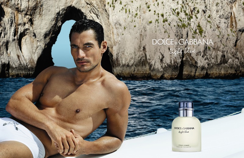 David Gandy stars in a 2013 advertising campaign for Dolce & Gabbana Light Blue.