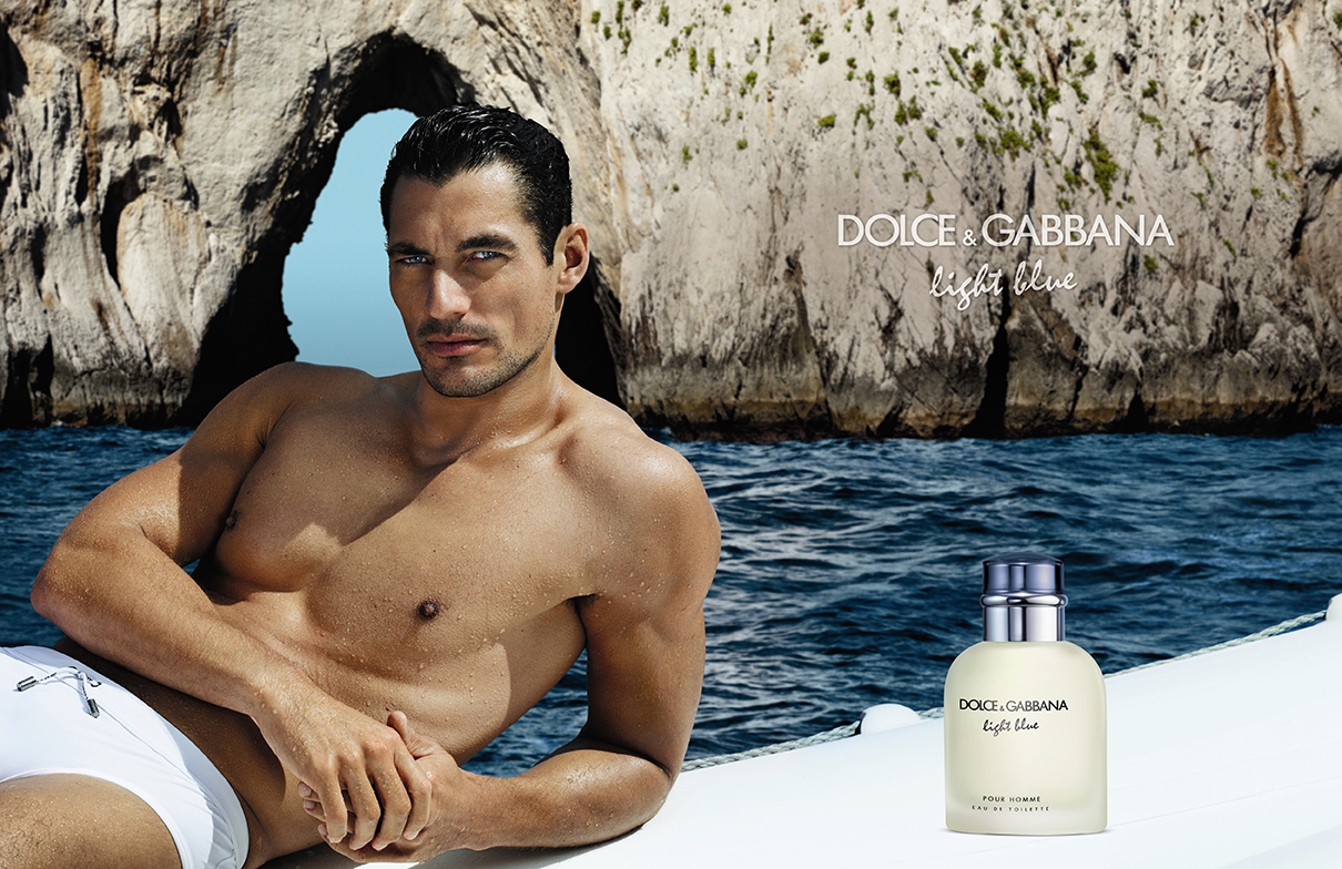 cdba6ba140 David Gandy Dons His Iconic White Speedos for Dolce & Gabbana's Light Blue  Fragrance Campaign