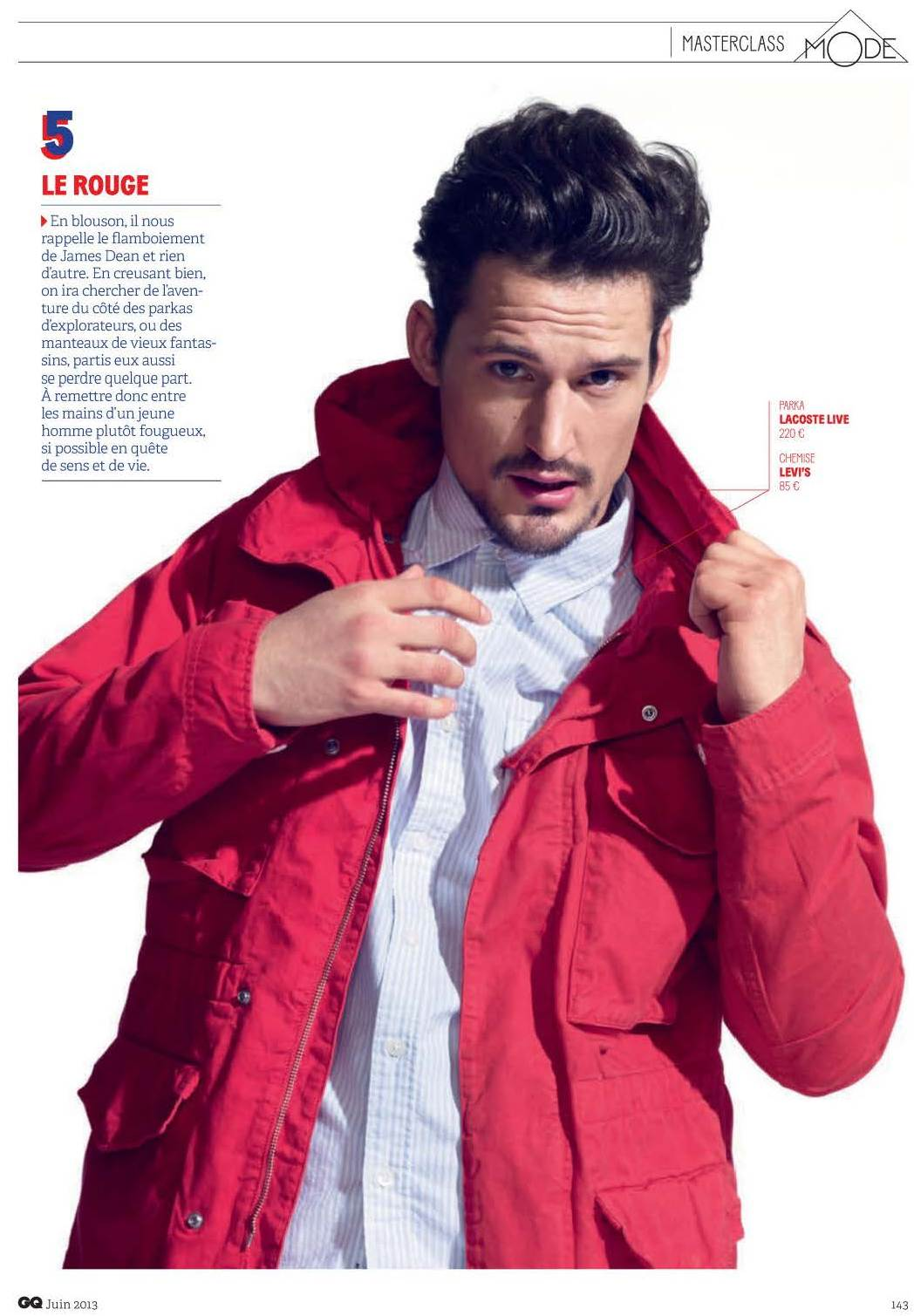 Sam Webb is in Technicolor for GQ France's June Issue
