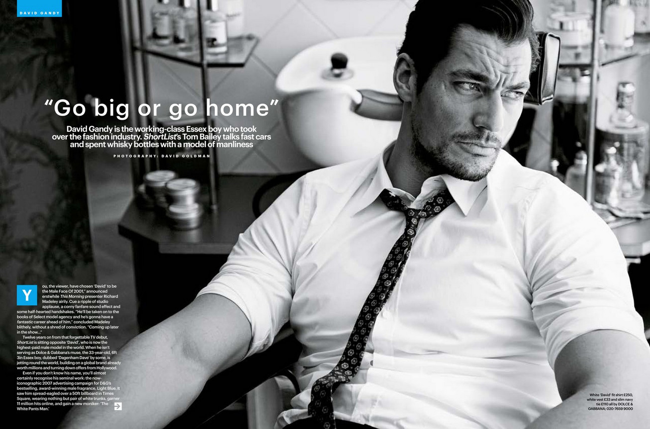 A Dolce & Gabbana Clad David Gandy Appears in ShortList's Cover Story