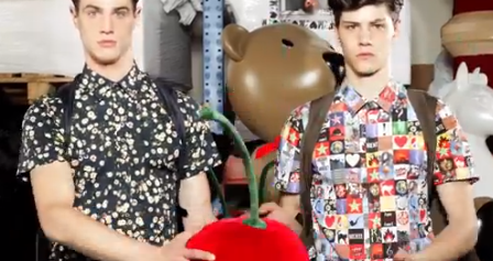 Luca Finotti Directs Simone Nobili & Andy Walters Wearing Moschino's Spring/Summer 2014 Collection