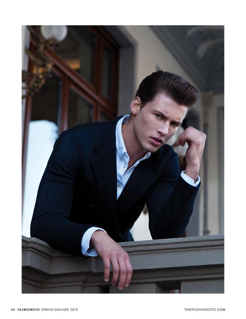 Alfred Kovac by Jay Schoen in Emporio Armani for Fashionisto #7