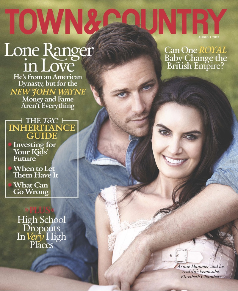 Armie Hammer Covers Town & Country