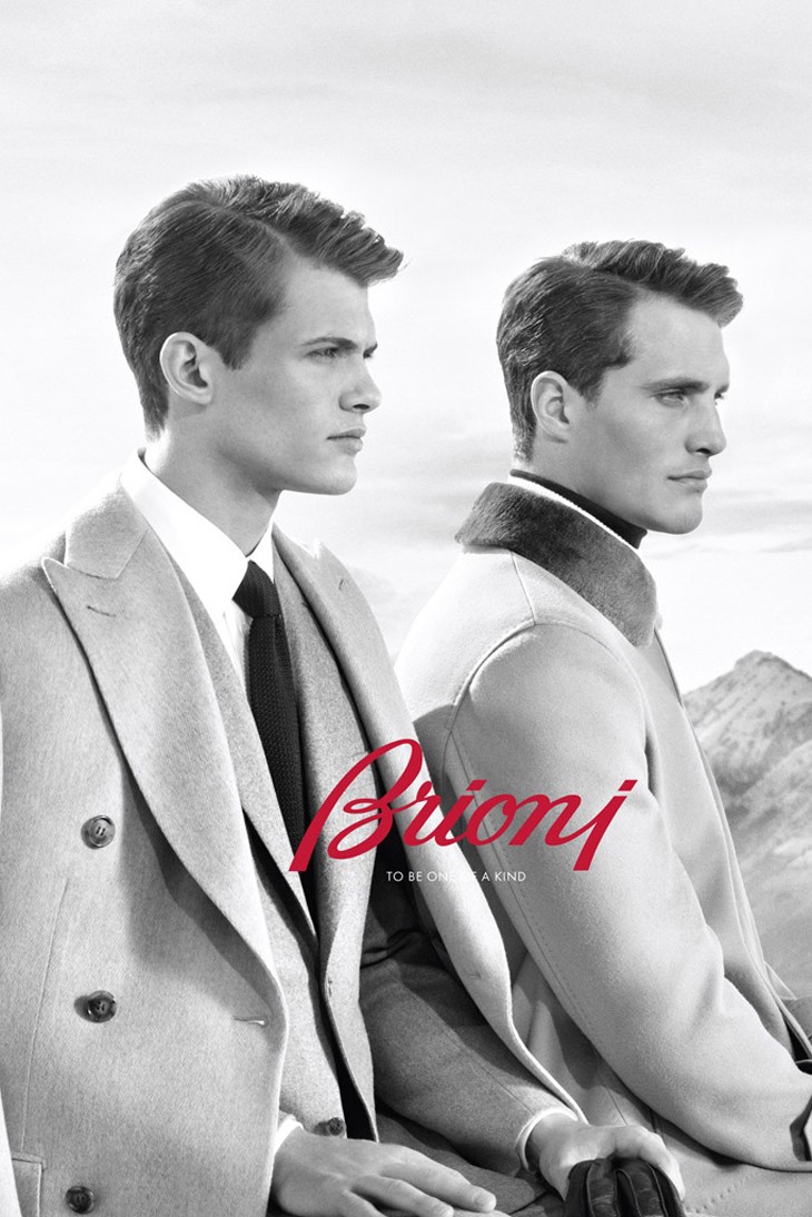 Ollie Edwards & Julien Nielsen Front Brioni Fall/Winter 2013 Campaign