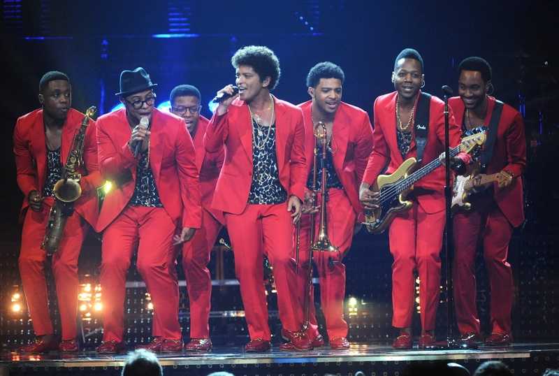 Dolce & Gabbana Outfits Bruno Mars for 'Moonshine Jungle' World Tour