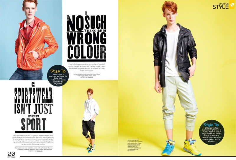 Cameron Gordon Delivers Style Rules for FHM Singapore