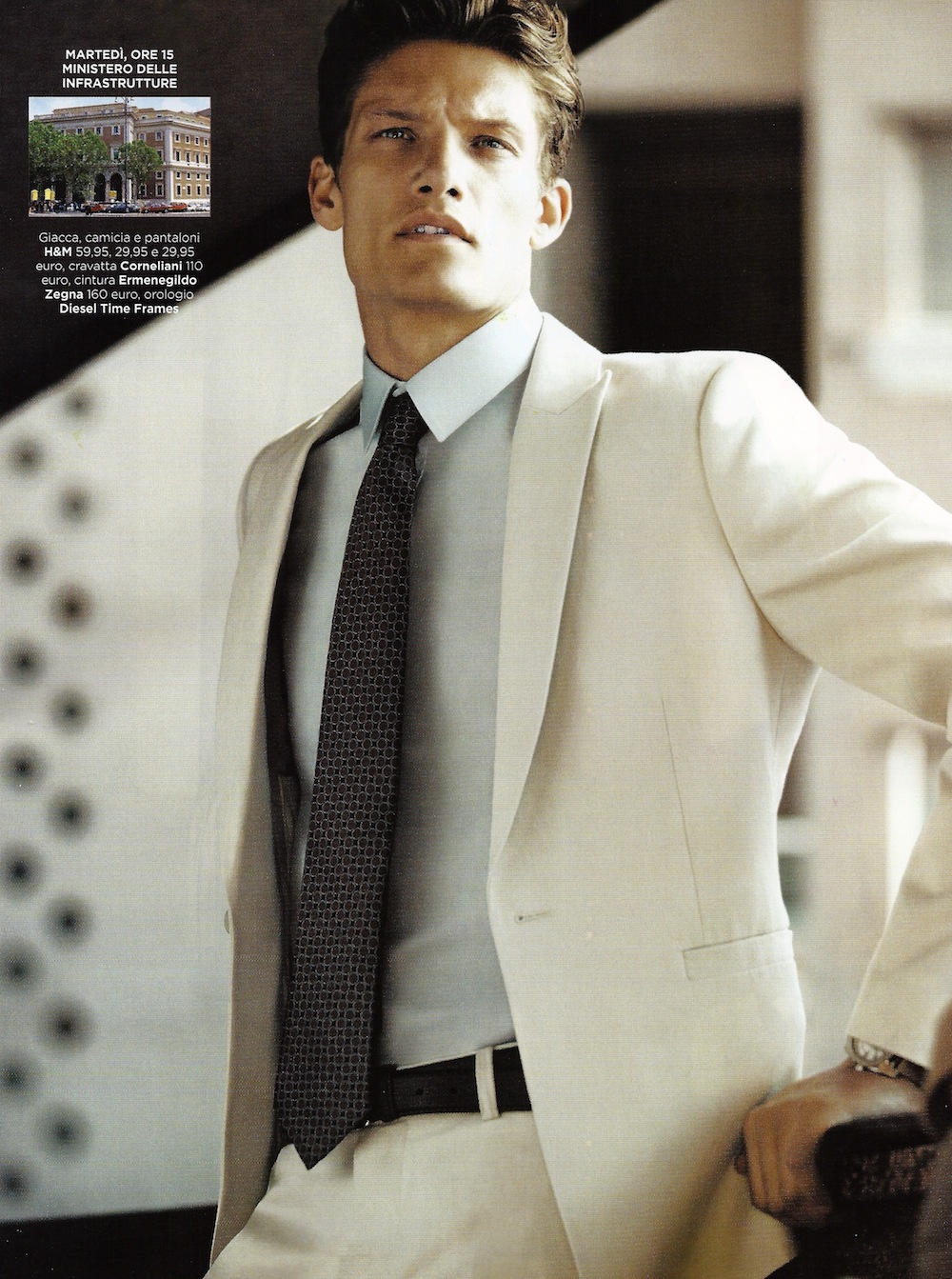 Danny Beauchamp Suits Up for Italian GQ