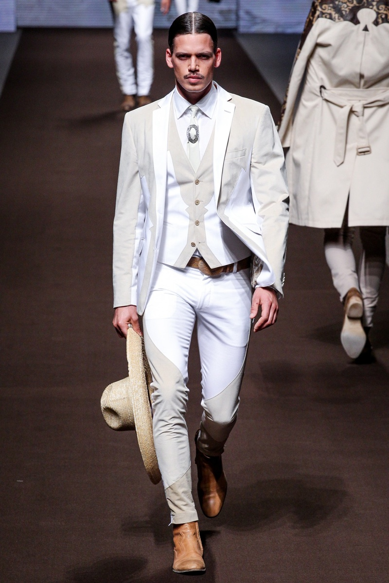 Etro showcases a modern spin on western style boots.