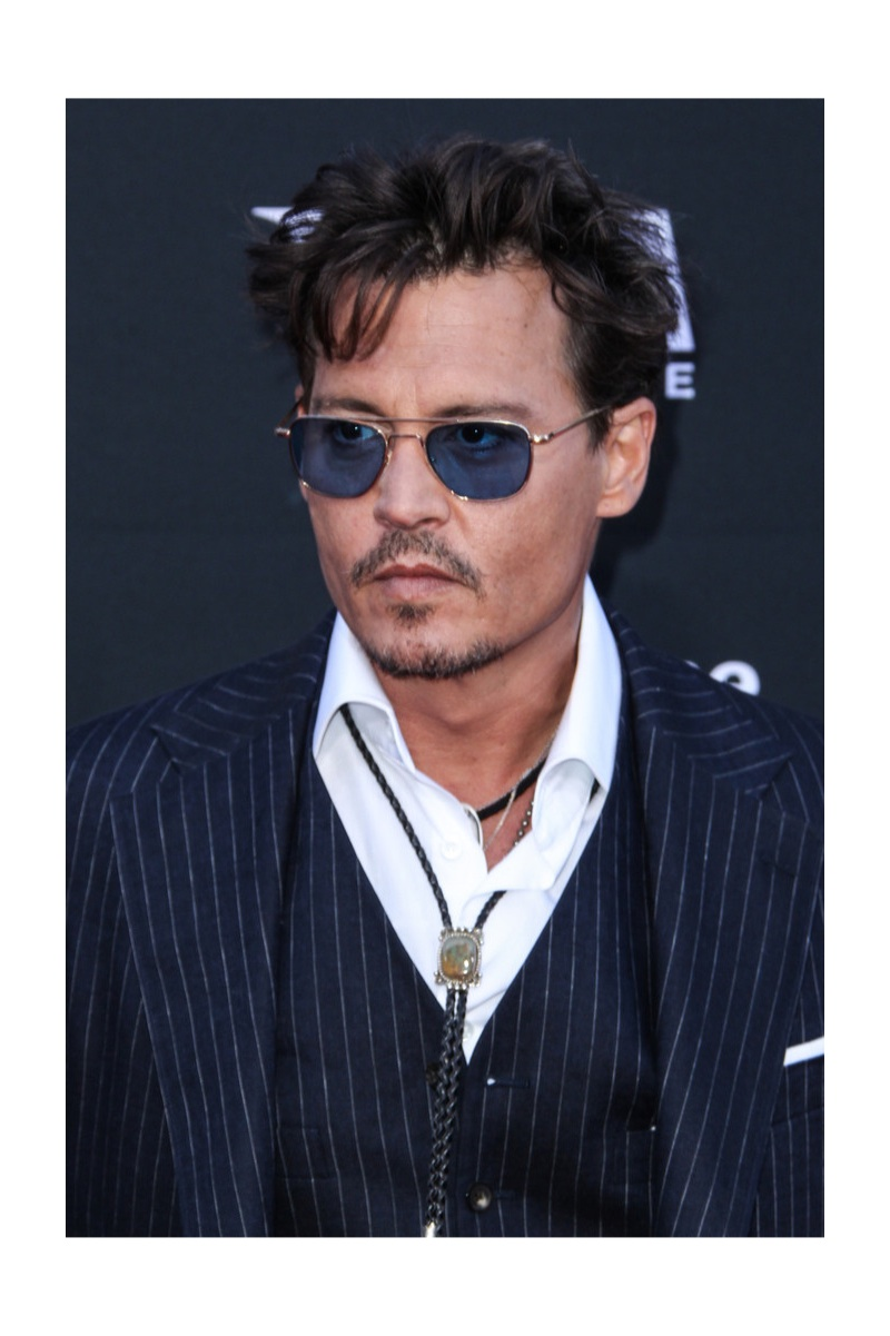 Johnny Depp Wears Ralph Lauren to 'The Lone Ranger' World Premiere