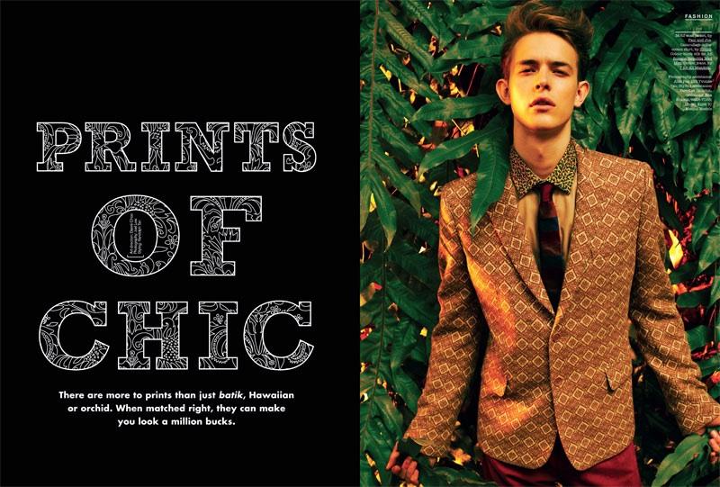 Kirill Vasilev Dons Prints for FHM Singapore