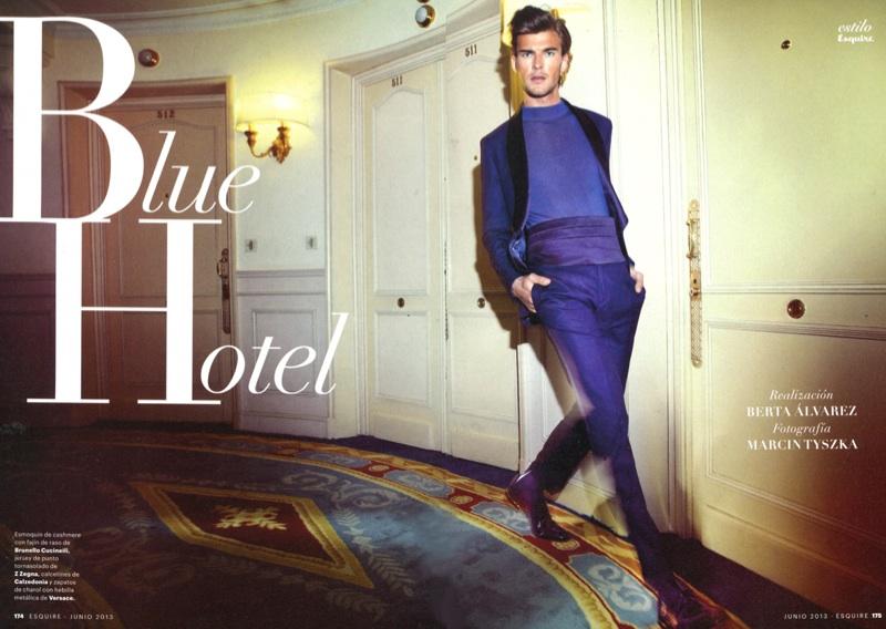 Patrick Kafka is Feeling Blue for Esquire España