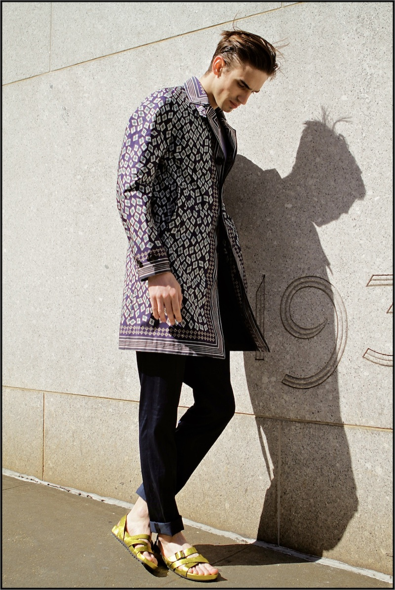 Philip Milojevic by Oscar Correcher in Burberry Prorsum Spring/Summer 2013 for Fashionisto Exclusive