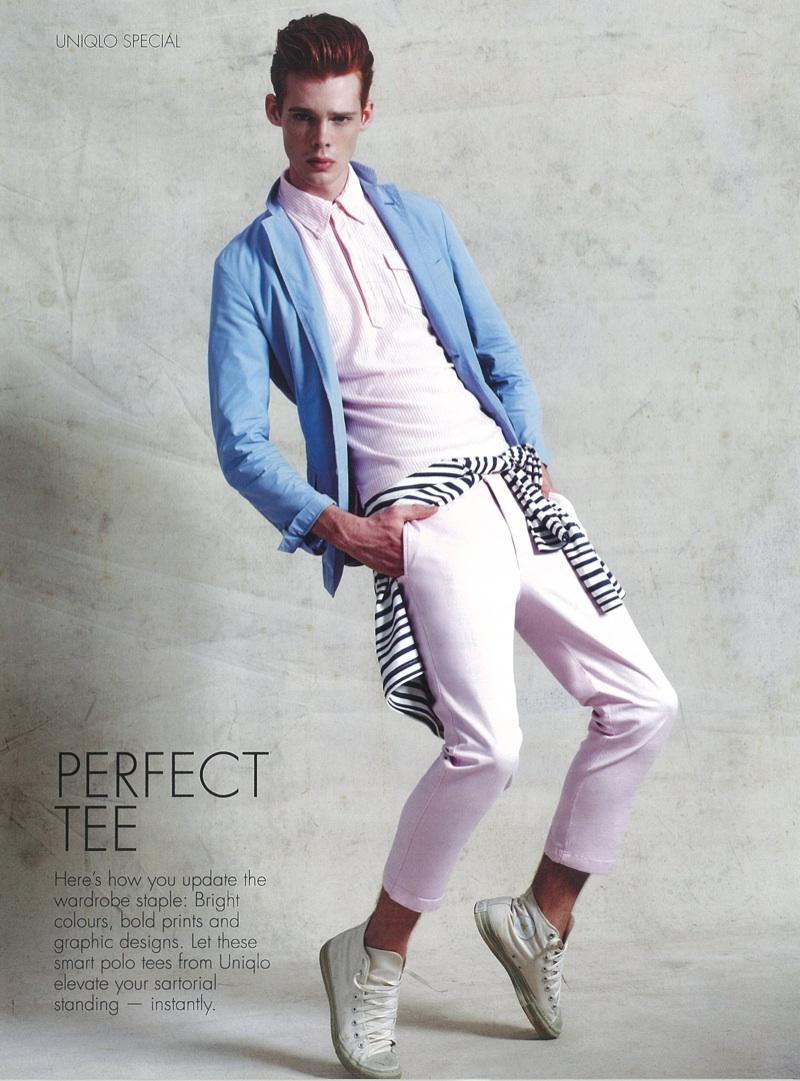 Cameron Gordon Rocks Uniqlo for Style:Men Singapore