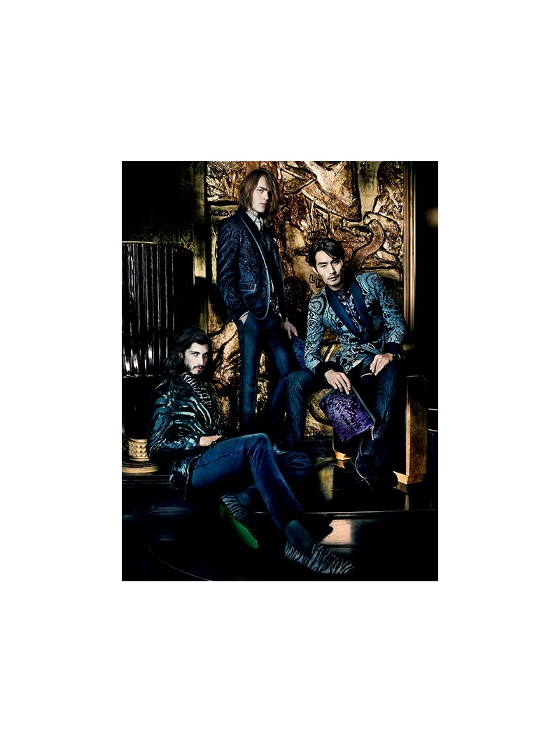 Andres Risso, Nan Fulong & Ton Heukels Star in Etro Fall/Winter 2013 Campaign