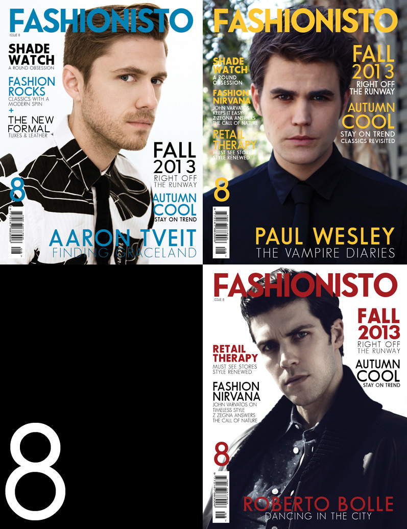 Aaron Tveit, Paul Wesley & Roberto Bolle Cover Fashionisto #8
