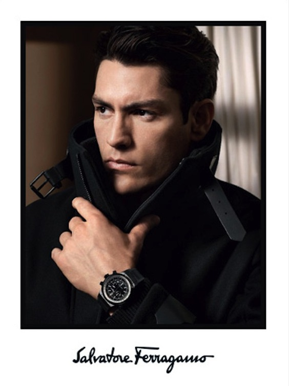 David Sims Photographs Tyson Ballou for Salvatore Ferragamo's Fall/Winter 2013 Watches Campaign
