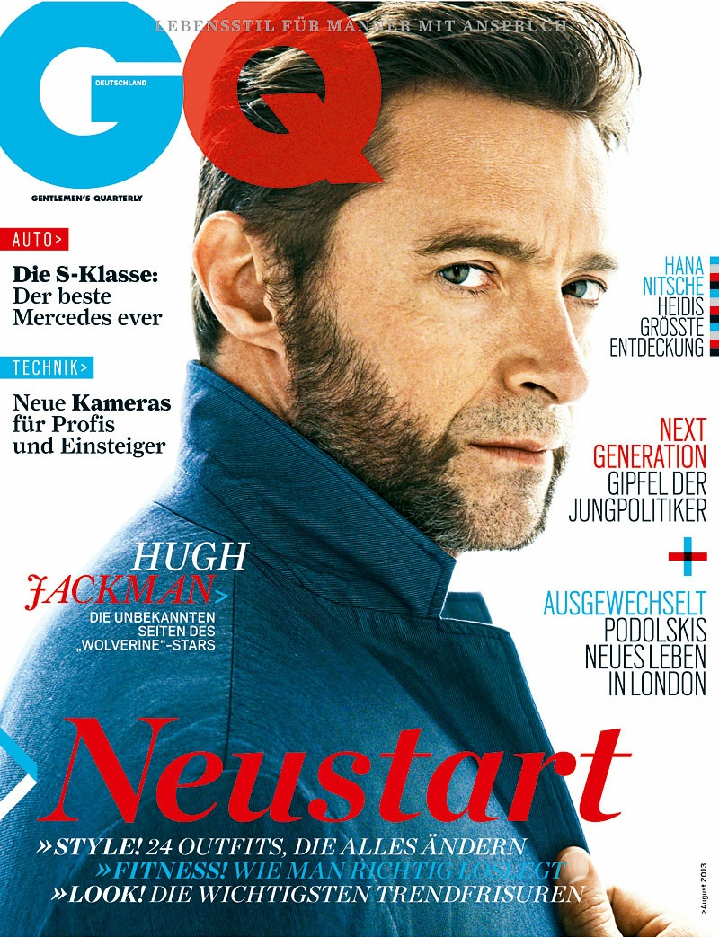 Hugh Jackman Covers German GQ
