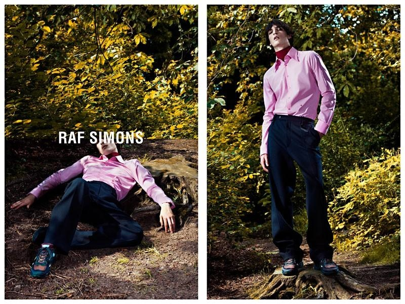 Luca Lemaire Fronts Raf Simons Fall/Winter 2013 Campaign