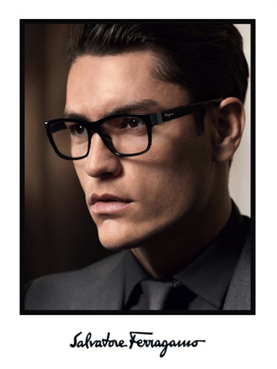 Tyson Ballou Appears in Salvatore Ferragamo Fall/Winter 2013 Eyewear Campaign