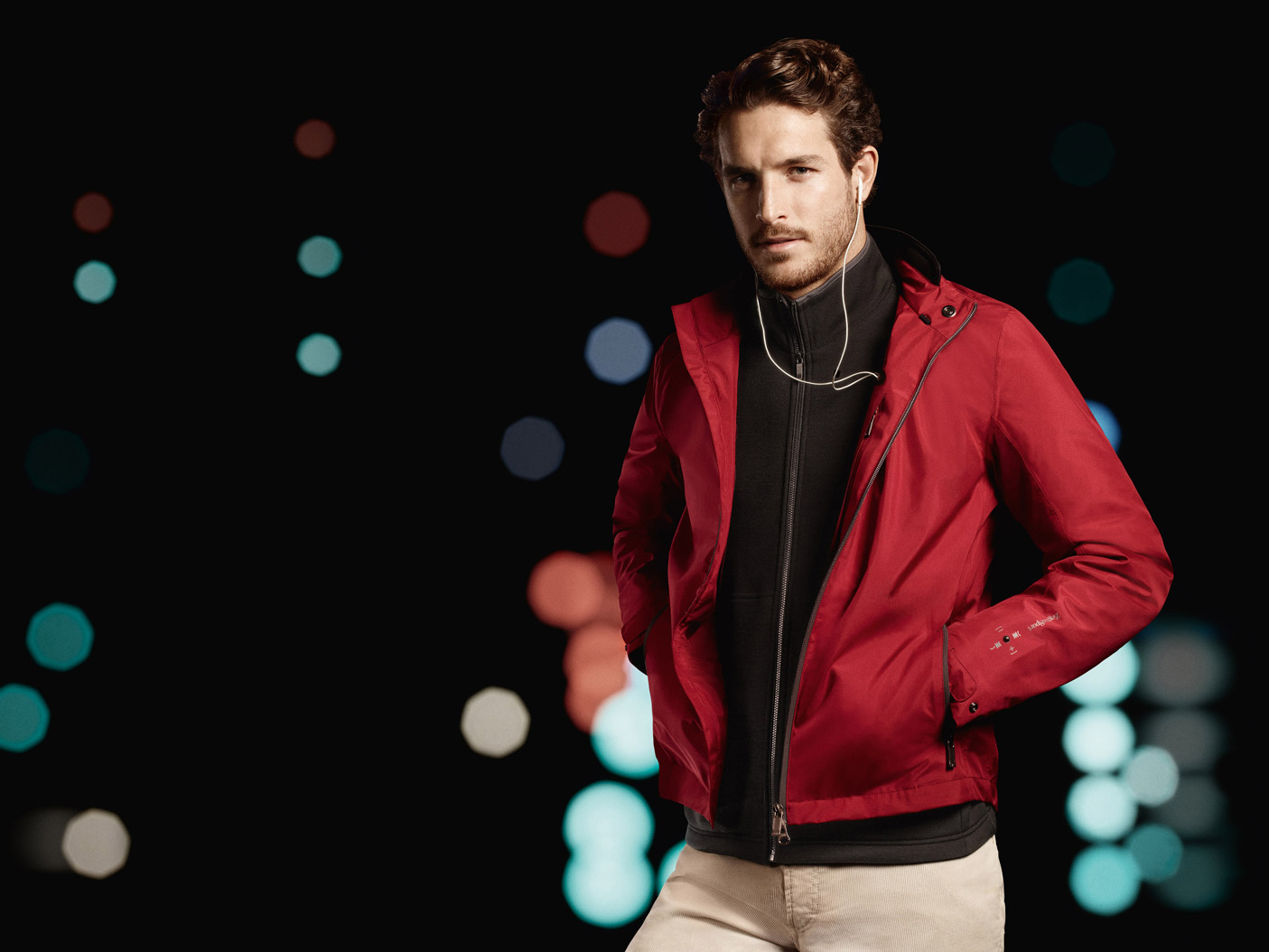 Justice Joslin Poses for Zegna Sport Fall/Winter 2013 Campaign