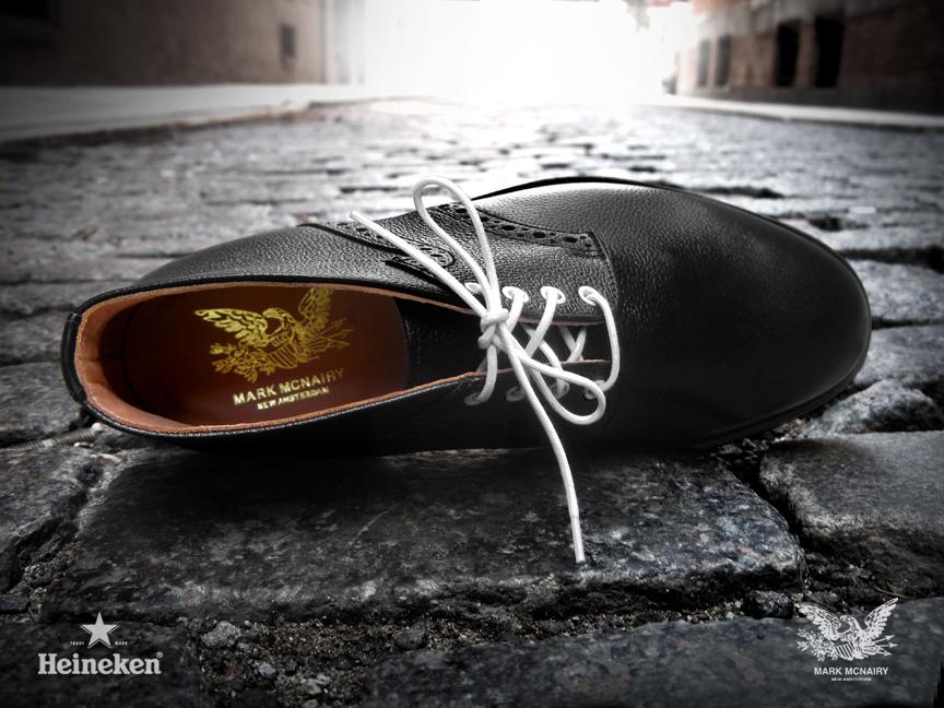 #Heineken 100 Black Mark McNairy Chukka Saddle Boot Inner Sole